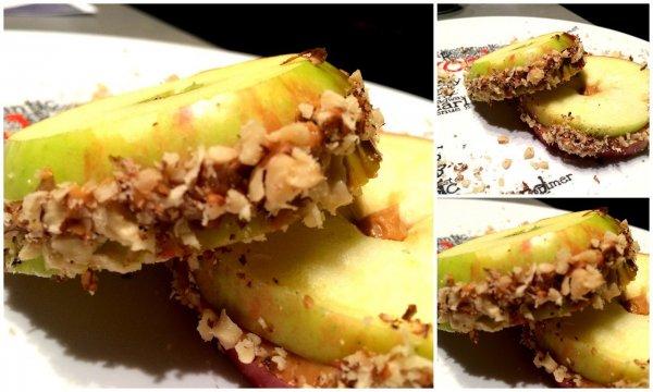 mogyoróvajas alma diókéreggel